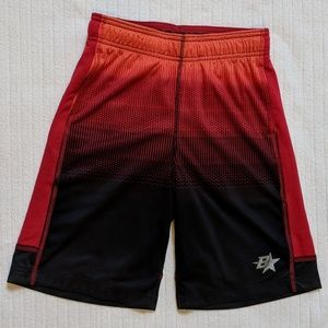 Black Red Orange athletic Boys shorts by Brother